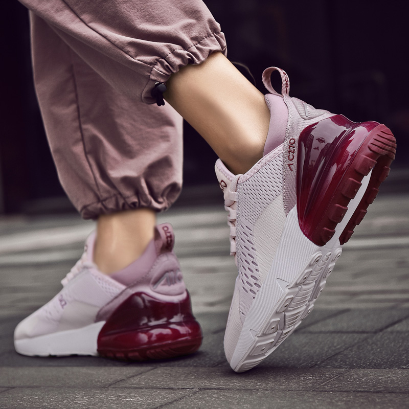 Moipheng 2019 New Fashion Women Sneakers Lover Casual Shoes Breathable Mesh Platform Shoes Lace Up Flat Shoes Plus Size 36-46