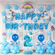 QIFU 2 Years Birthday Balloons Balloon Party Decoration Kids 2nd birthday Boy Girl Childrens