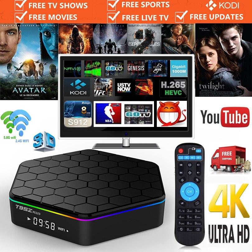 Original T95Z Plus font b Android b font Smart TV Box Amlogic S912 Octa Core Octa