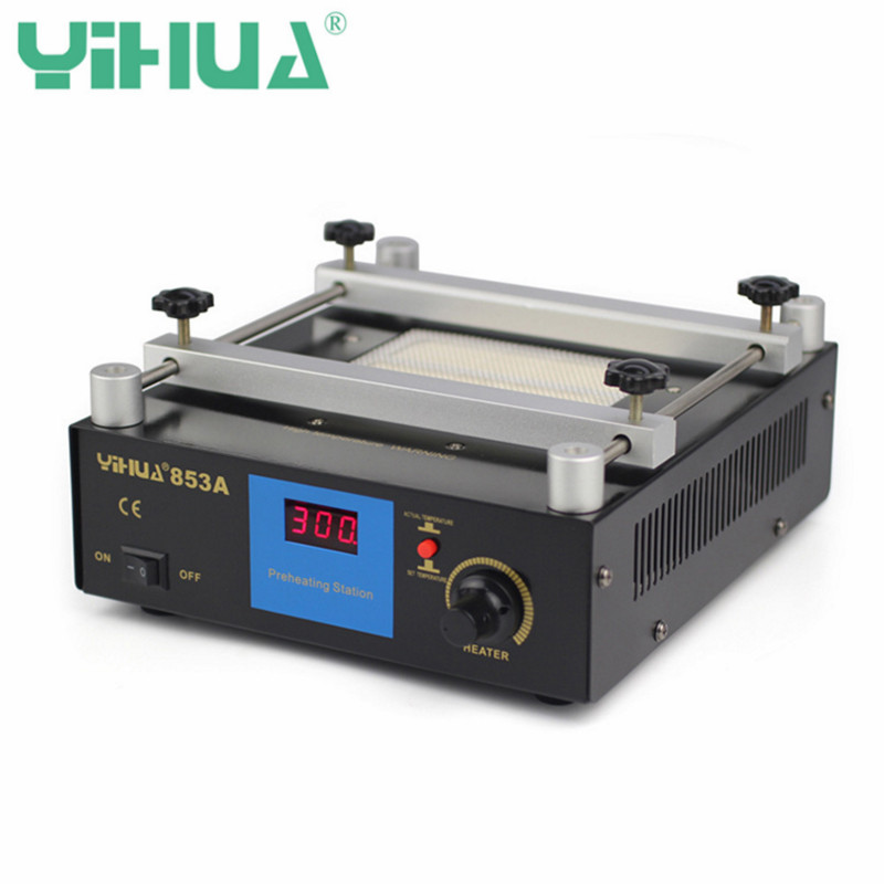 YIHUA 853A 220V Digital Display Preheating Station Soldering Station PCB Preheater BGA Rework Welding Station Desoldering Tool