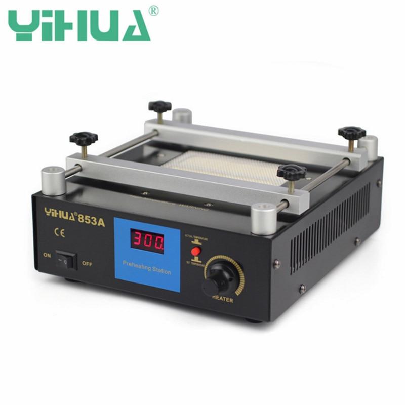 YIHUA 853A 50 Гц 220 В цифровой разогреть паяльная станция высокой Мощность ОУР BGA паяльная станция PCB распайки ИК подогрева
