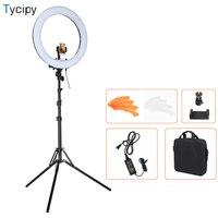 Tycipy 18'' 240pcs LED 5500K Dimmable Photography LED Photo Studio Phone Video Ring Light Kit for DSLR Camera With Tripod 4690