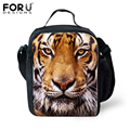 New Design 2016 Children Animal Lunchbox Cool Leopard Thermal Lunch Box Kids Picnic Zoo Sling Insulated Lunch Bags Gift Boys Bag