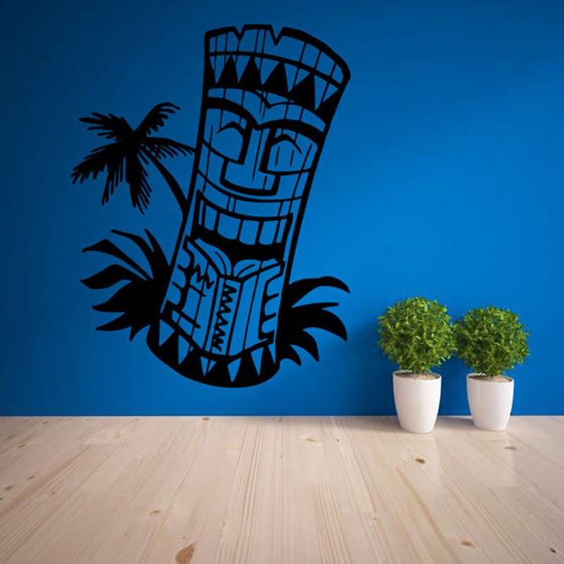 Tiki bar logo Décor Sticker Salon Décor À La Maison Étanche Art Autocollant Papier Peint totem L'île D'hawaï Masque Culture ZB169