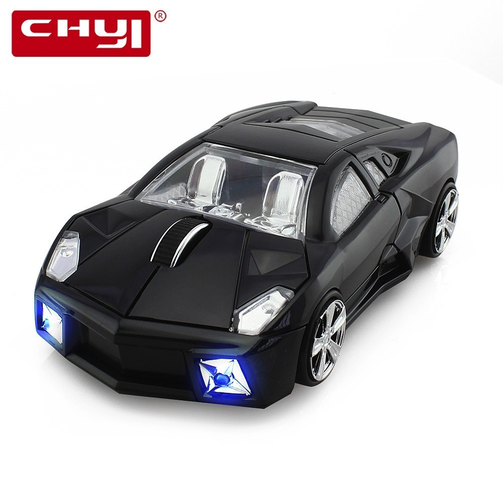 CHYI 2.4GHz Wireless Mouse Super Sports Car 2.4Ghz Racing Coupe GT Roadster Optical Mice Ajustable 1600DPI for PC Laptop Desktop