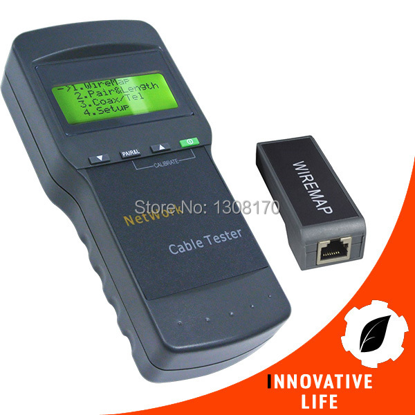 Digital Twisted Wire Tester Meter Cat5 RJ45 STP UTP LAN Phone Coaxial Network Cable Tester digital twisted wire meter test cat5 rj45 stp utp lan phone coaxial network cable tester