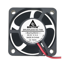 5pcs/lot Small Brushless DC Cooling Fan 5V 40mm x40mmx20mm 4020s 2Pin