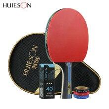Huieson 4 звезды ракетка для настольного тенниса 40+ ABS прыщи в резине Быстрая атака ракетка спорт пинг понг весла длинная/короткая ручка
