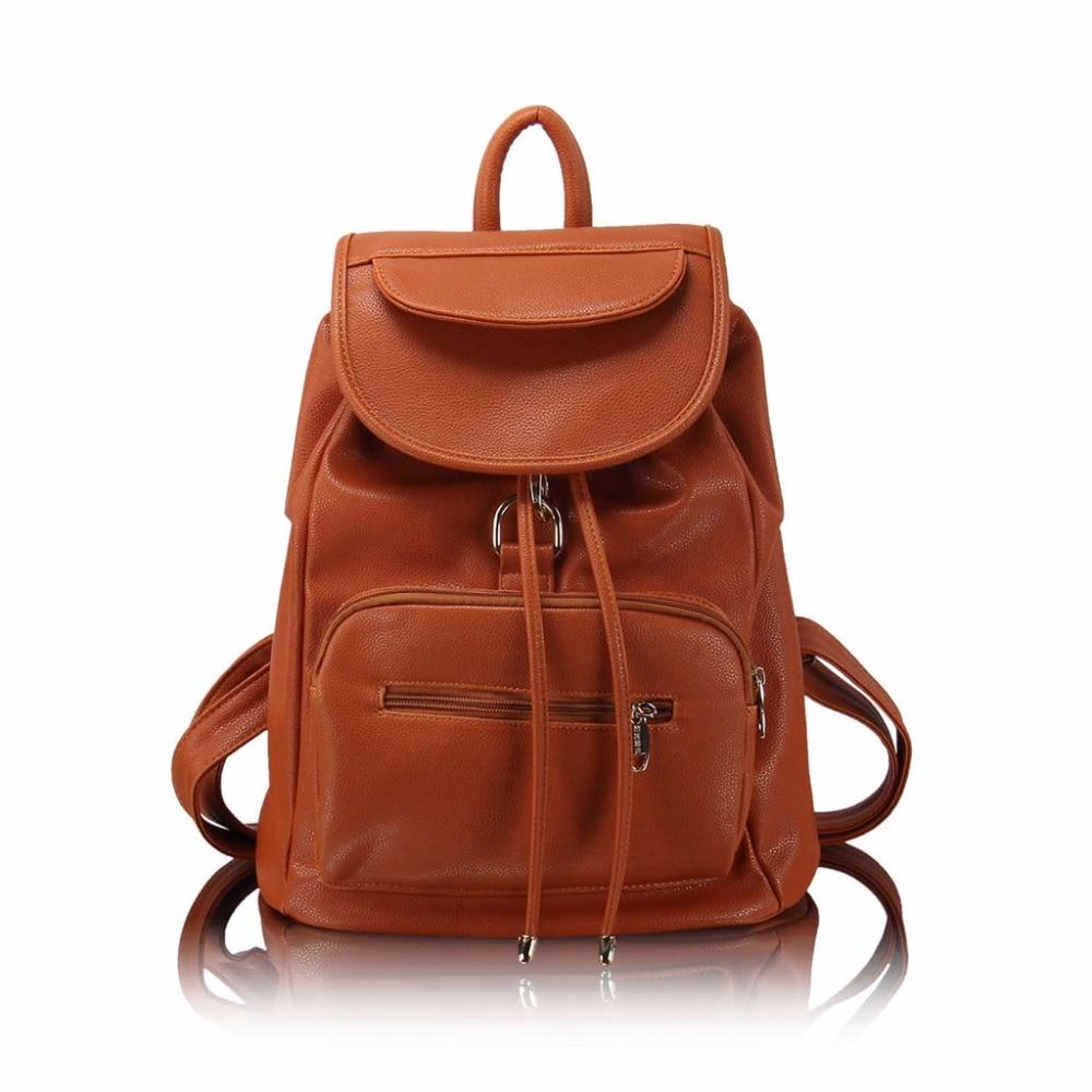 New Brand Large capacity Backpack Women PU Leather Bag Women Bag Small Women Backpack Mochila Feminina