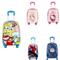 2018 Child Animal School Bag Tourism Rolling Luggage Cartoon Suitcase Kids Trolley Wheeled Bag Children Luggage