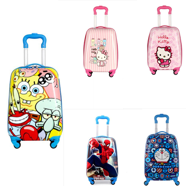 75eaf612d 2018 mochila escolar de animales para niños, Maleta de dibujos animados, maleta  con ruedas