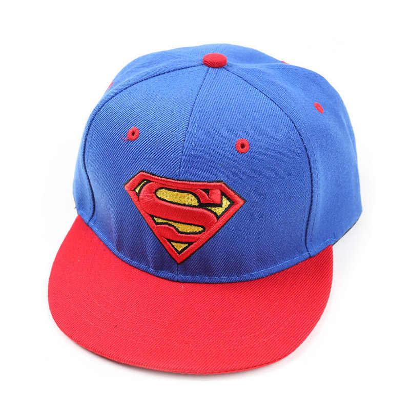 410915b7d New High Quality Baby Boys Girls Snapback Hats Children Batman Superman  Baseball Cap Kids Cartoon Hip Hop Hat For 3-8 Years Old