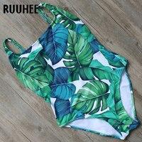 RUUHEE Swimwear Women Vintage One Piece Swimsuit Cross Striped Bodysuit 2017 Brand Bathing Suit Monokini Swimming