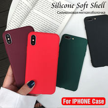 Phone Case for iPhone 6S 7 8 Plus 5S SE Matte Pure Color Jelly Cover for iPhone X XR XS Max Skin Gel Soft Silicone CaseLuxury(China)