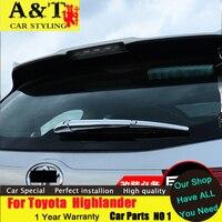 Estilo del coche Para Toyota Highlander recortar 2015 2016 Para Highlander trasera limpiaparabrisas limpiaparabrisas tira de cubierta decorativa de cromo pegatinas C