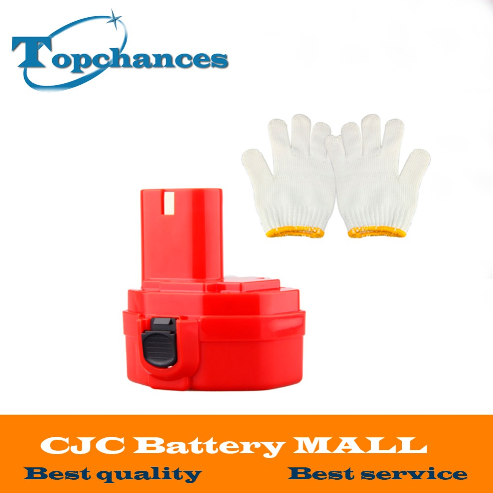 <font><b>14.4V</b></font> 2000mAh Ni-CD Replacement <font><b>Battery</b></font> for Makita 1420 1422 1433 1434 1435 1435F 4000 6000 Series 192699-A 193158-3 image