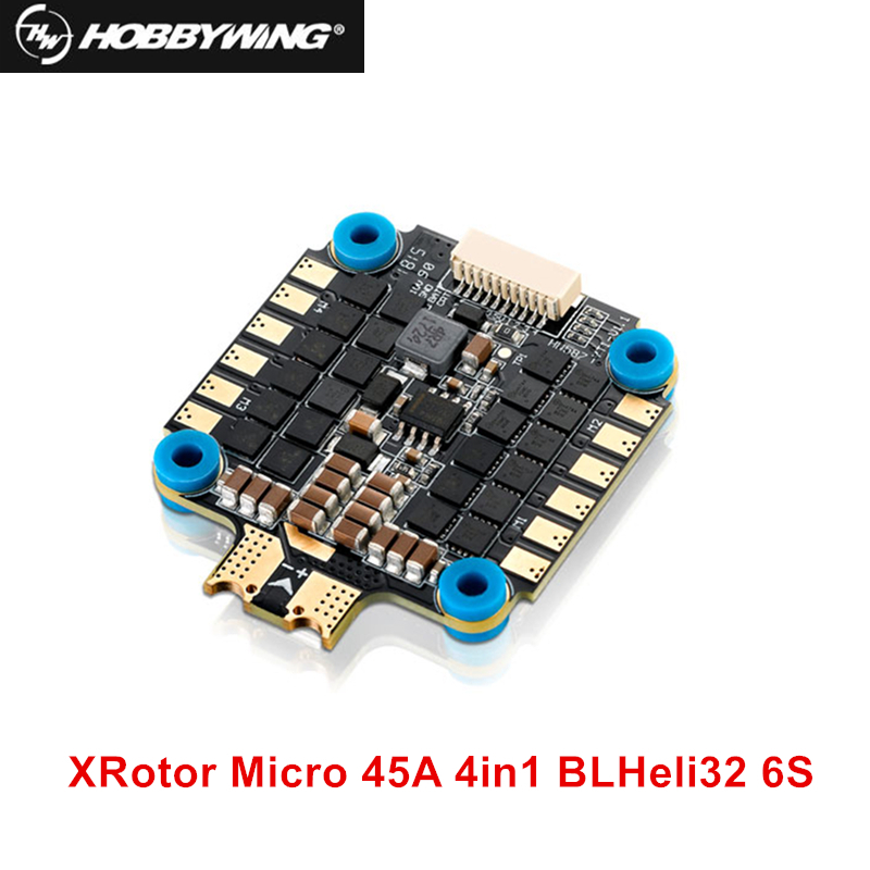 D'origine Hobbywing XRotor Micro F4 G2 Contrôleur de Vol avec 45A 4in1 BLHeli32 6 s ESC DShot1200 Combo pour FPV Quadcopter drone
