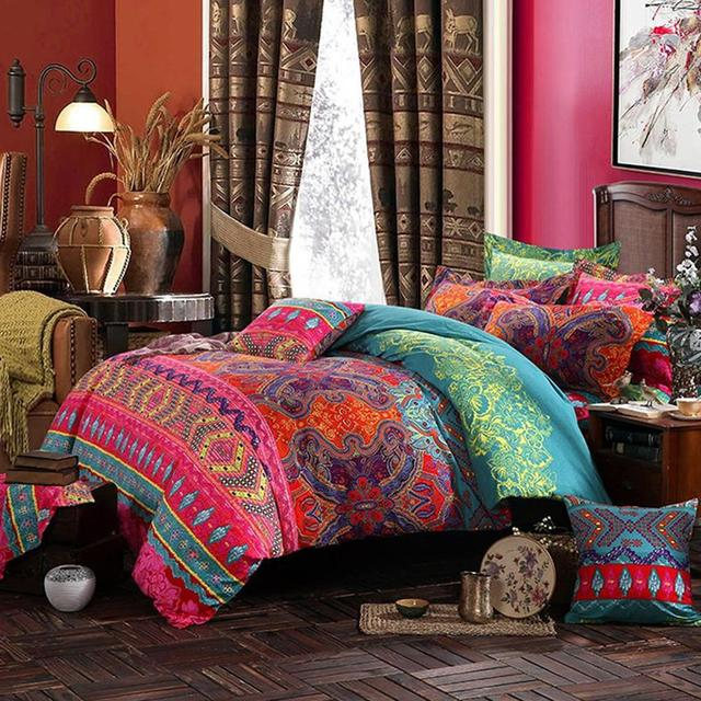 Colorful Boho Duvet Cover Set