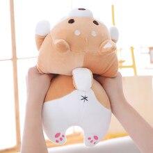 Boa qualidade bonito gordura shiba inu cão brinquedo de pelúcia recheado kawaii macio animal dos desenhos animados travesseiro adorável presente para crianças do bebê
