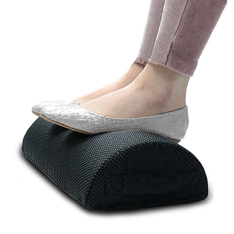 HOT-Comfort Foot Rest Pillow Cushion Memory Foam Under Office Desk Half Cylinder Home Foot Relax Pain Relief Relaxing Cushion