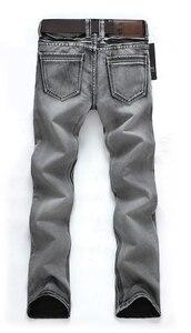 Image 2 - AIRGRACIAS классические мужские джинсы ретро ностальгия прямые джинсы мужские размера плюс 28 38 мужские длинные брюки брендовые байкерские джинсы