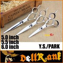 """Japonia Hot """"YS PARK"""" 5.5 """"6"""" Cal wysokiej jakości fryzjer nożyce fryzjerskie nożyce fryzjerskie profesjonalne nożyczki do cięcia włosów YS C"""