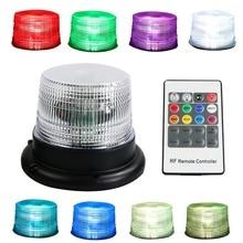 8 colori RGB A Distanza Senza Fili di Controllo Auto di Emergenza Del Veicolo Pericolo Magnetico Faro Cautela di Sicurezza di Avvertimento Lampeggiante Strobe Light