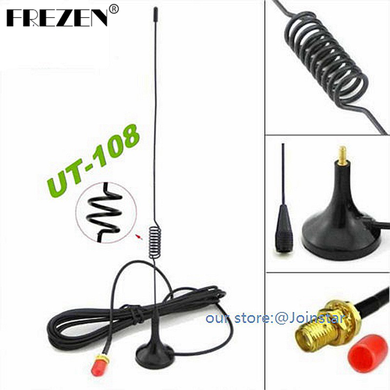Car Antenna UT-108UV For The Radio SMA-Female Magnetic Vehicle-mounted Antenna For Baofeng UV-5R KG-UVD1 Uv-5r TG-UV2