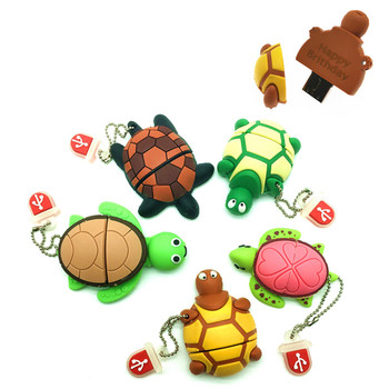 (over 10 PCS) Free LOGO customized usb flash drive gifts tortoise 4gb 8gb 16gb 32gb 64gb animal pen drive flash memory stick