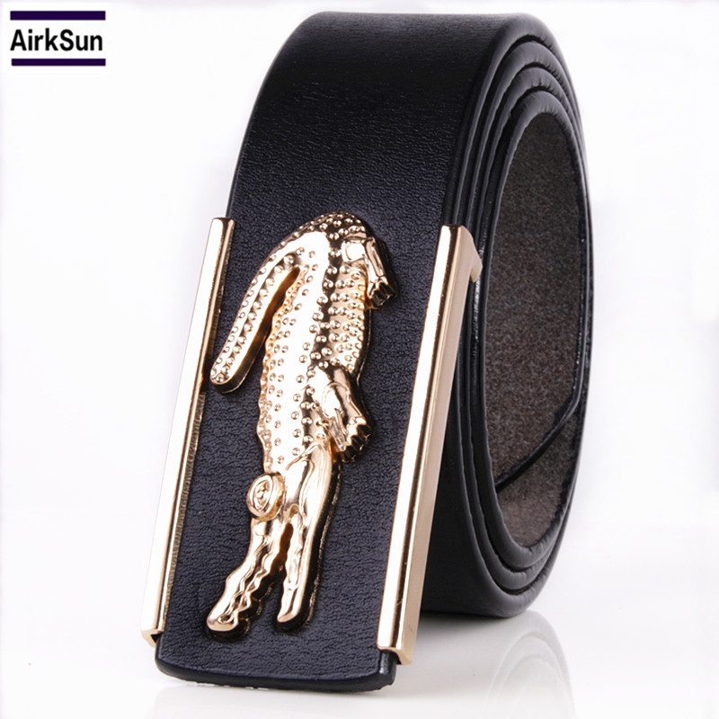 Men's Belts for Business Man Strap Cow Split Leather Crocodile Belt - Apparel Accessories