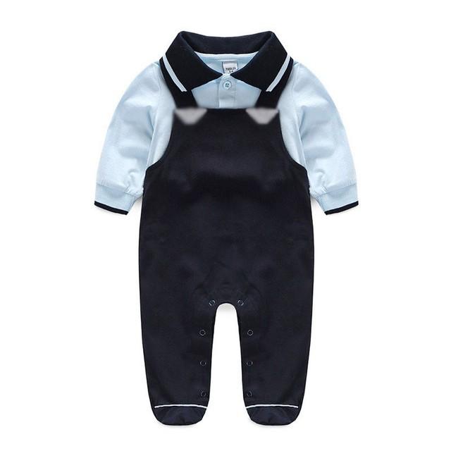 Meninos do bebê Macacão de Bebê Recém-nascido Roupa Do Bebê Corpo Terno 2017 Primavera Outono Bebes Macacão Macacões de Mangas Compridas Trajes Do Bebê