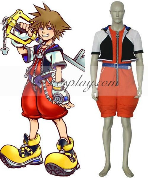 Kingdom Hearts 1 Sora Cosplay Costume E001