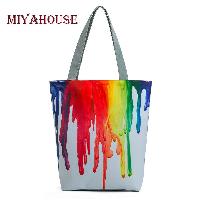 Miyahouse Vintage Floral Design Beach Bags For Women Canvas Tote Bag Fashion Female Single Shoulder Shopping Bags Flower Handbag miyahouse cute cat printed beach bag women large capacity shopping bags vintage female single shoulder bag canvas ladies handbag