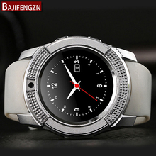 V8 Passometer smart watch with touch screen camera TF card Bluetooth connection Android smartphone