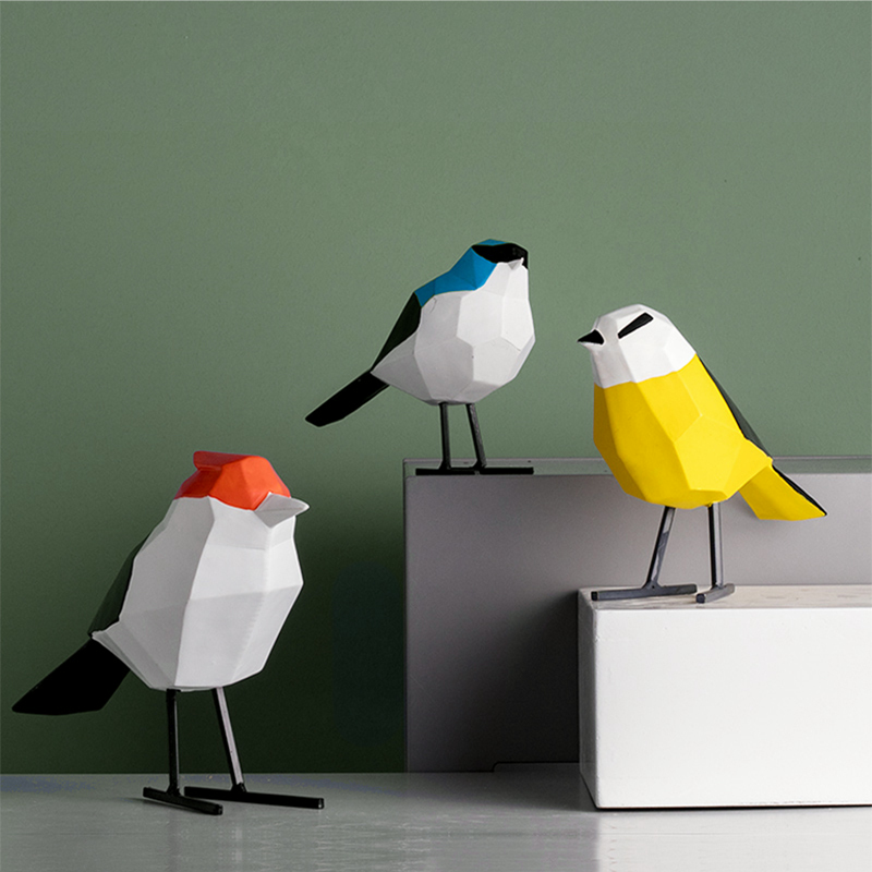 Ins hot geometric Bird white Nordic design modern Home Decoration Figure Valentines jewelry kid Gift Modeling table office decor