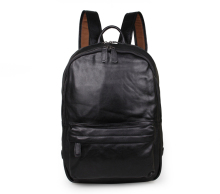 Nesitu Large Capacity Black Color Genuine Leather Women / Men Backpacks Cowhide Men Travel Bags #M7273