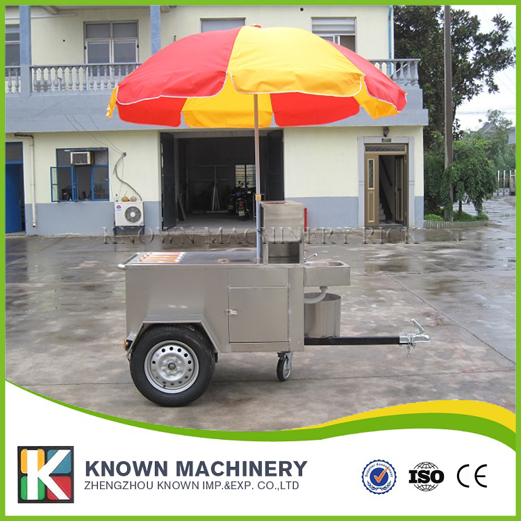 KN120A food trailer truck hot dog cart Hamburger ice cream fast trailer/truck with free shipping by sea multifunctional mobile food trailer cart fast food kitchen concession trailer