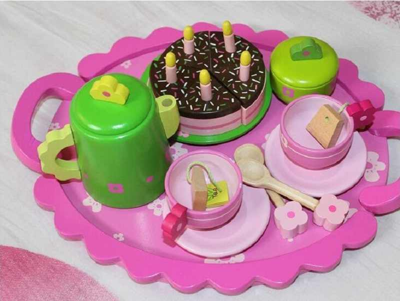Fly AC Дети обучения и развивающие деревянные шоколадный торт ролевые игры