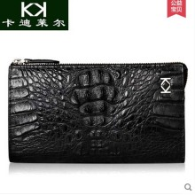KADILER 2017 new hot free shipping Authentic Thai crocodile leather handbags men long wallet zipper business men bag
