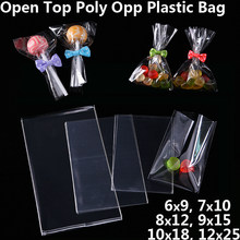 Transparent Food Cookie Candy Bag Wedding Christmas Birthday Party Favors Jewelry Gift Packaging Bags Clear Poly OPP Plastic Bag(China)
