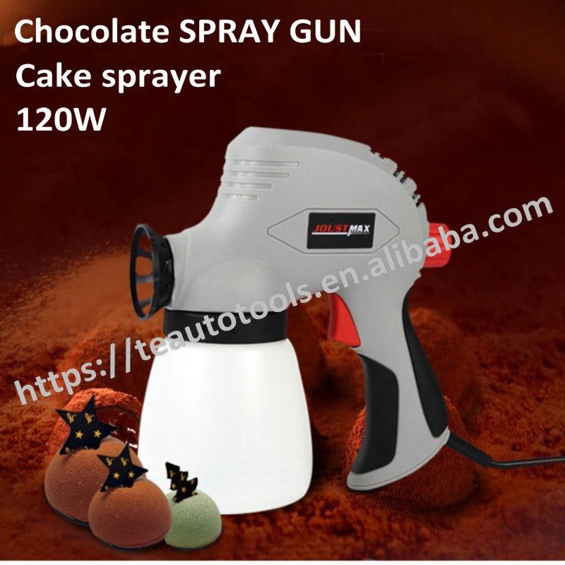 Chocolate liquid electric spray gun frosted turn sugar ice cream mousse cake decoration sandblasting machine baking