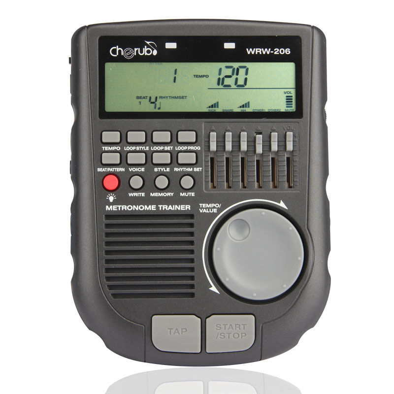 Cherub Brand WRW-206 Drummer Metronome, Loop Material, Professional Drum Metronome.