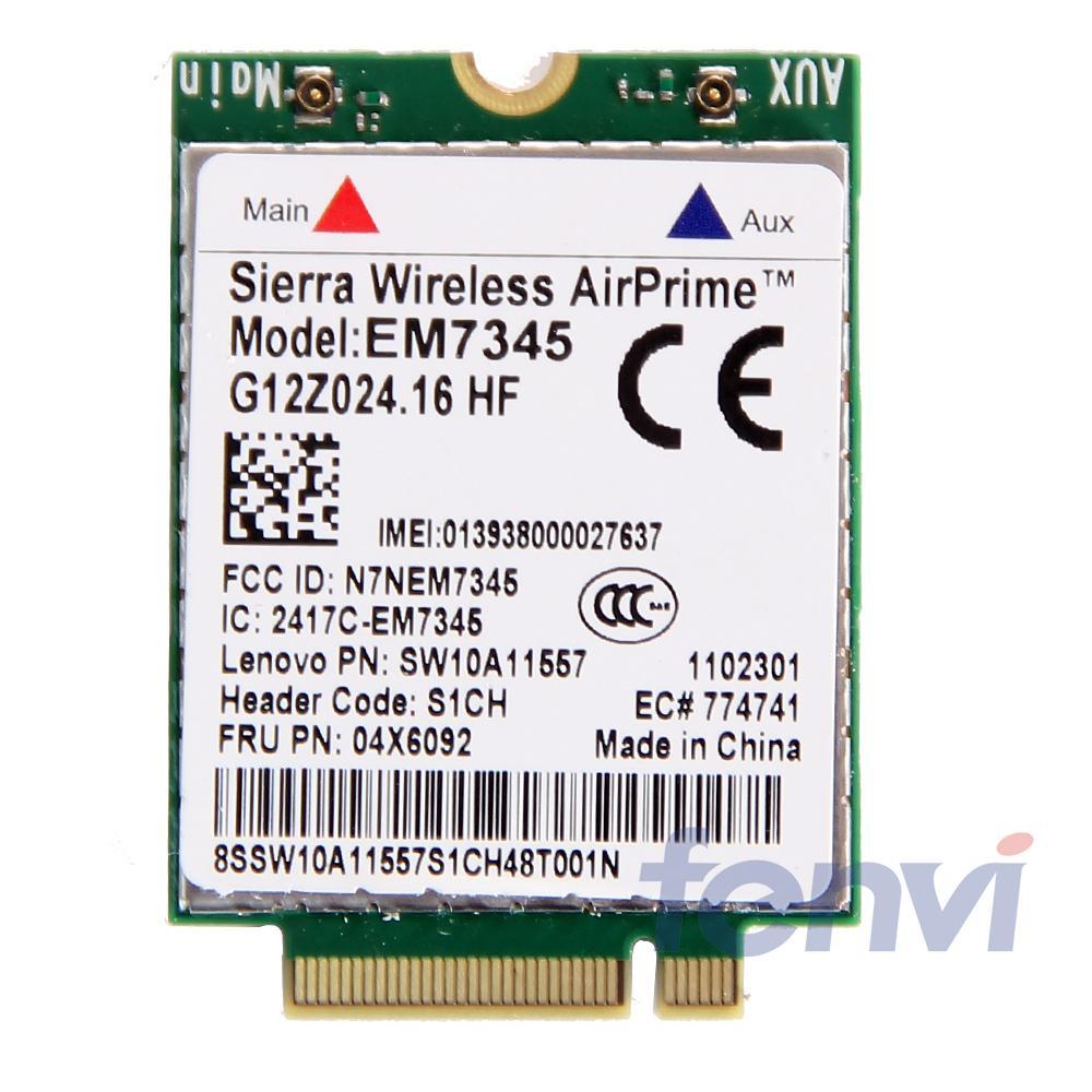 For Lenovo Sierra Wireless EM7345 Gobi5000 4G LTE NGFF LTE/HSPA+/UMTS/WCDMA FRU:04X6092 For Thinkpad T440 T550 X250 T540p L540
