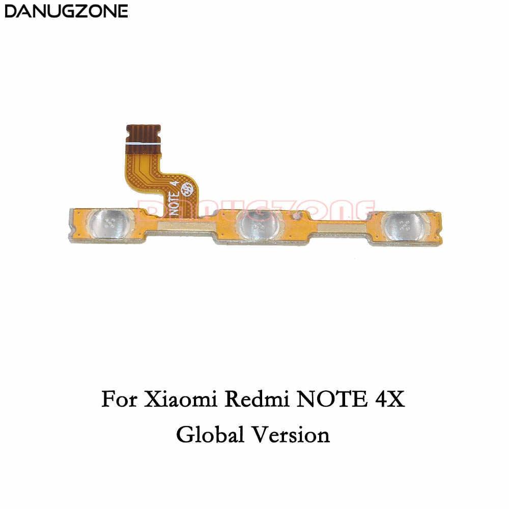 電源ボタンのオン/オフ、ボリュームミュートスイッチボタンフレックスケーブルの場合 Xiaomi Redmi 注 4 4X (グローバルバージョン) 標準バージョン
