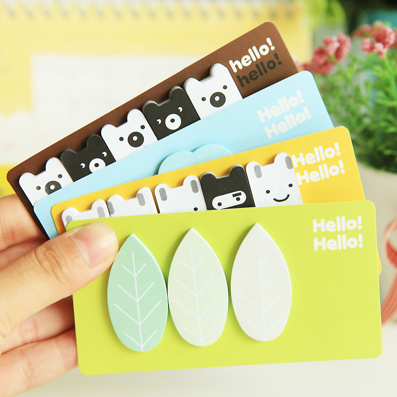 4pcs/lot New Cute Forest story Notepad / sticky note / message post / School supplies/ stationery/papelaria