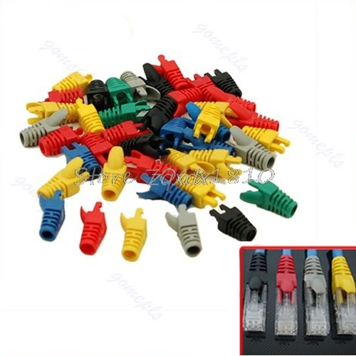50Pcs RJ45 Network Cable Plug Boots Cap Cat5 Cat6 New Whosale&Dropship