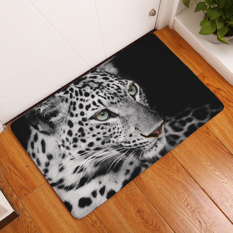 2017 New Anti Slip Carpets Lion Print Mats Bathroom Floor