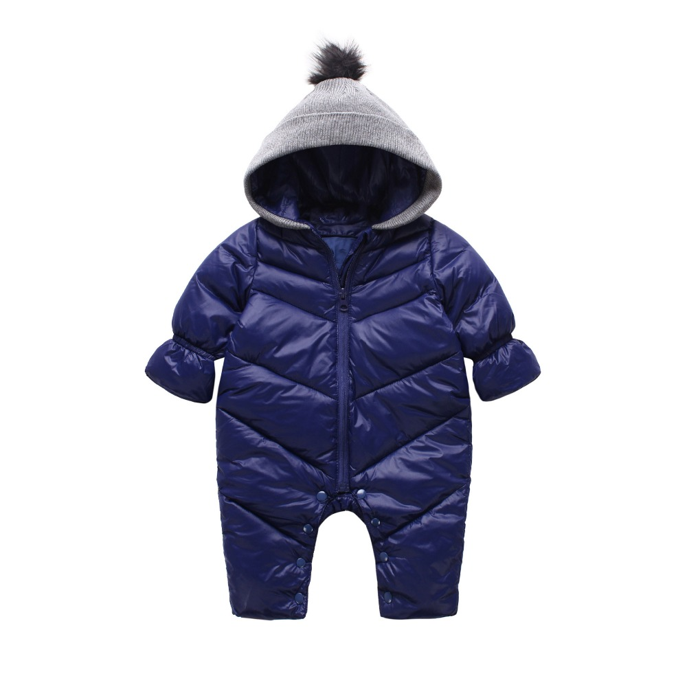 High Quality Baby Rompers Winter Thick Cotton Boys Costume Girls Warm Clothes Kid Jumpsuit Children Outerwear Baby Wear baby children winter kids boys girls double side wear hoodie cloak baby clothes bebe poncho cape coat outerwear