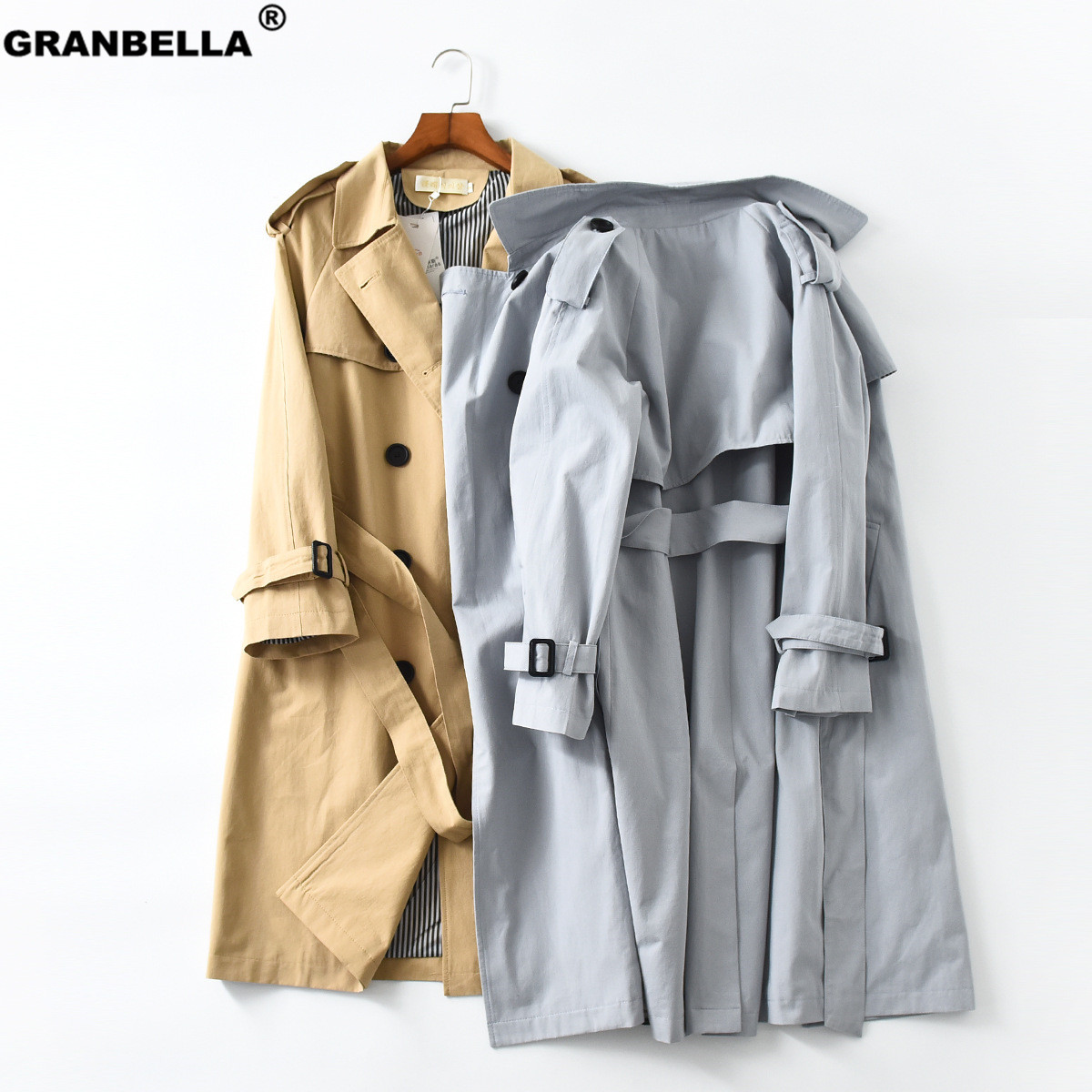 2019 Spring Autumn New Women's Casual   trench   coat oversize Double Breasted Vintage Washed Outwear Loose Cloak Clothing
