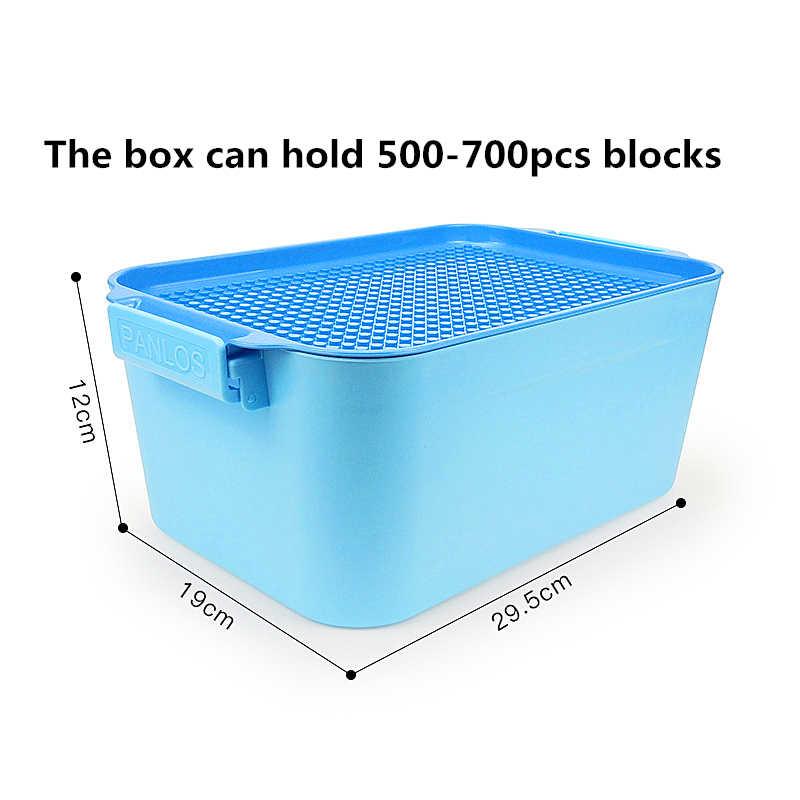 Newtoying กล่อง 700PCS GRAIN ยอมรับกล่องสะกดใส่ประกอบขนาดบล็อกอาคารพลาสติกถังของเล่นของขวัญ